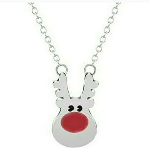 🎅 Rudoulph Necklace- silver